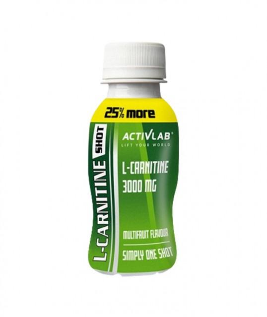 L-CARNITIN SHOT MULTIFRUIT 12*100ML, ACTIVLAB